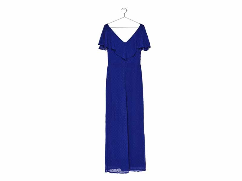 Blue jumpsuit by Bershka, available at Mall of the Emirates and Majid Al Futtaim City Centres