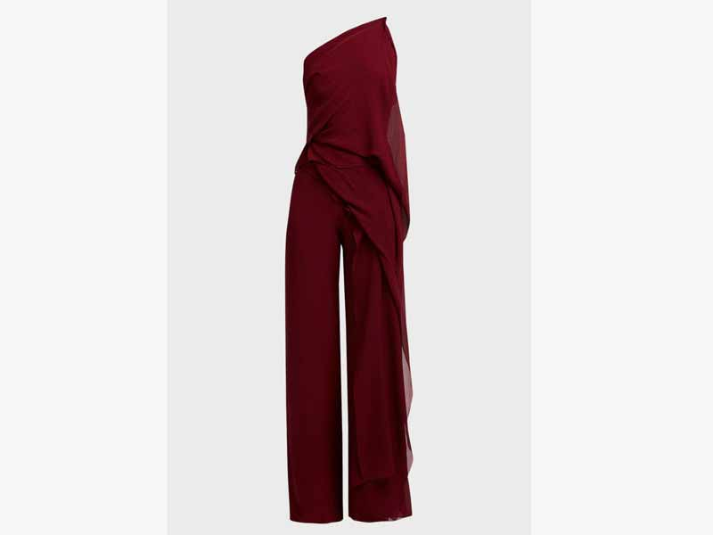 Burgundy jumpsuit 1 from Roland Mouret at Boutique 1