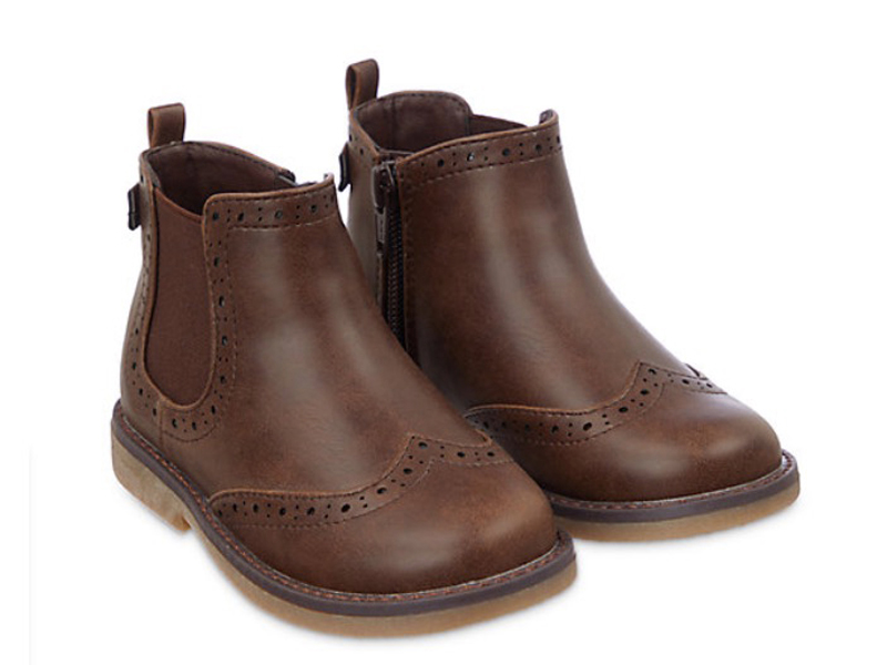 Brown brogue boots, LE400, Mothercare, visit Mall of Egypt