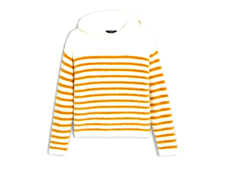 Fluffy striped hoody, LE565, Okaïdi, visit Mall of Egypt