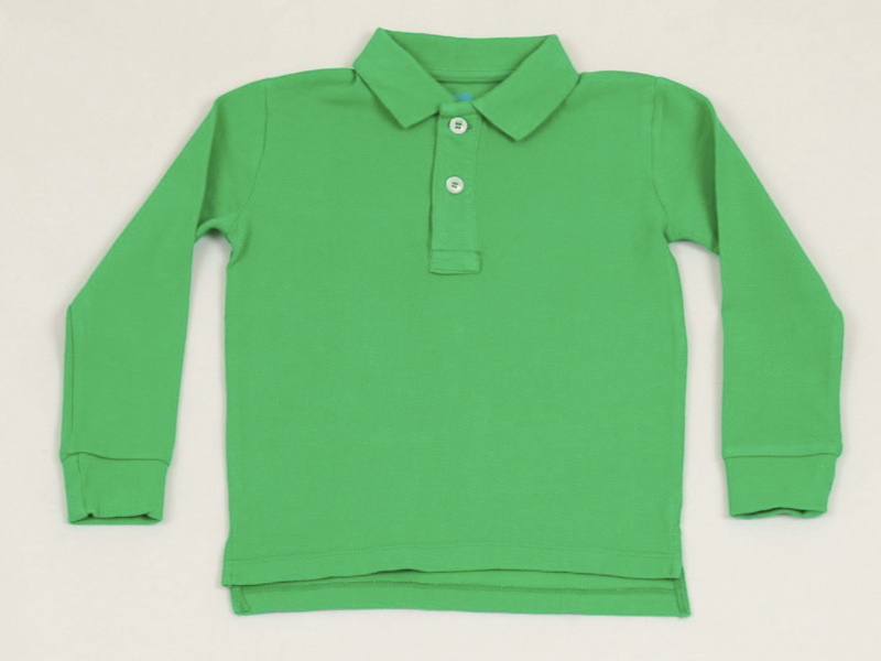 Green long-sleeved polo shirt, LE130, Yoyo by Elsayaad, visit Mall of Egypt