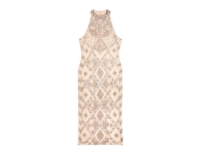 Nude high-neck dress, LE2,496, Miss Selfridge, visit Mall of Egypt