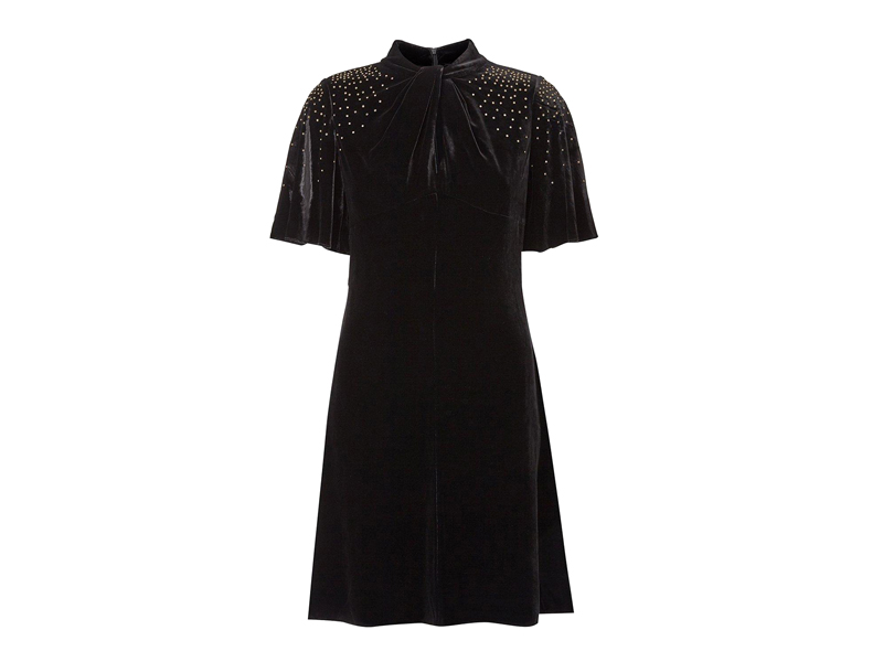 Velvet sparkle dress, LE5,607, Karen Millen, visit Mall of Egypt