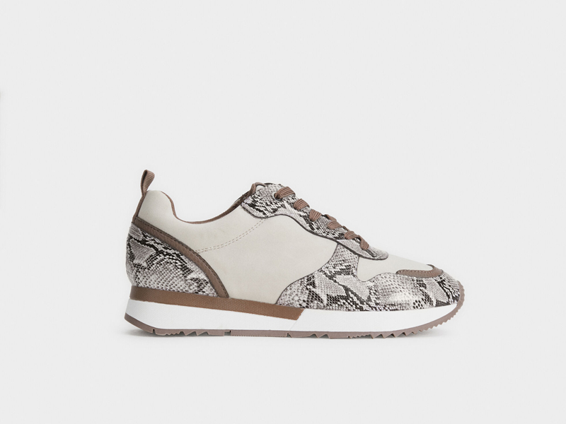 Snakeskin-effect trainer by Parfois, visit Mall of Egypt