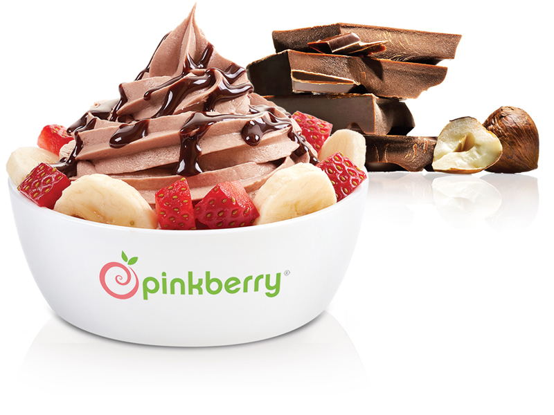 Chocolate hazelnut frozen yoghurt, Pinkberry, visit Mall of Egypt