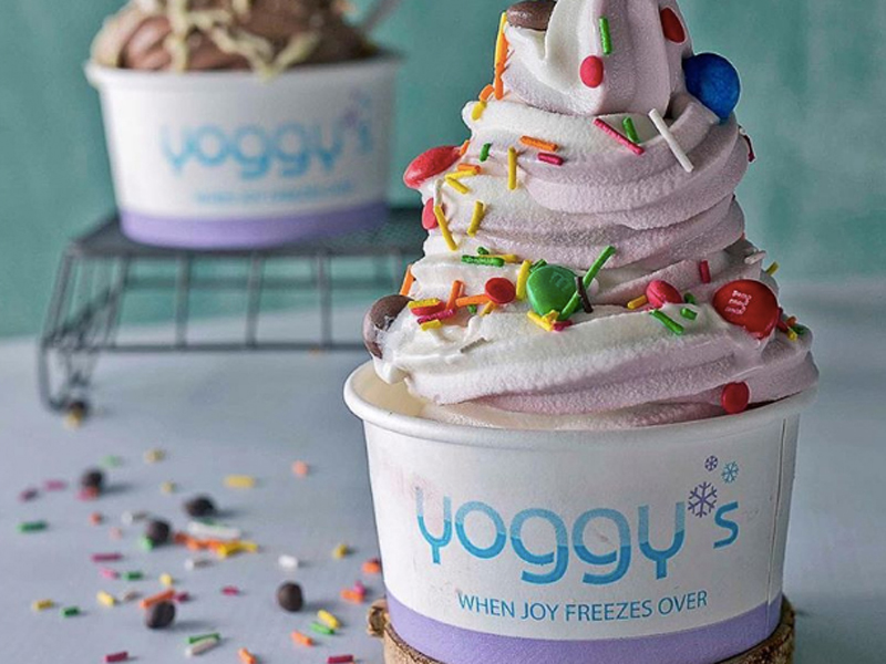 Pomegranate frozen yoghurt, Yoggy's, visit Mall of Egypt
