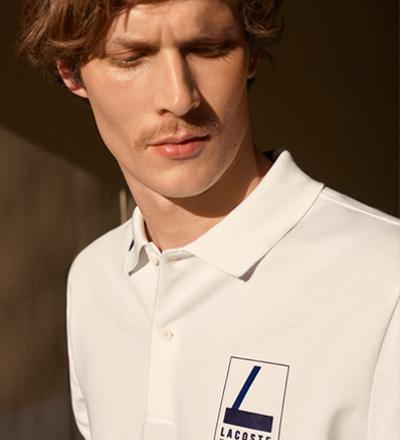 c6734cd16 Lettering Stretch Mini Piqué Polo Shirt Slim Fit