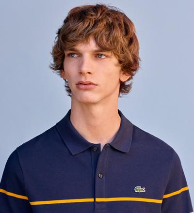 e26fc0641 Lacoste Thick Striped Cotton Polo Regular Fit