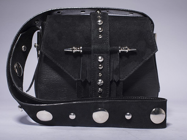 Hollywood celebrities also carry Okhteins Egyptian designer black studded bags