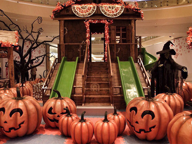 Halloween Decoration and Celebration at Mall of Egypt